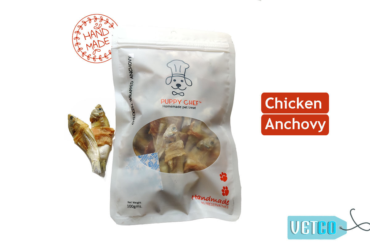 Puppy Chef Chicken Wrapped in Anchovies Dog Treats