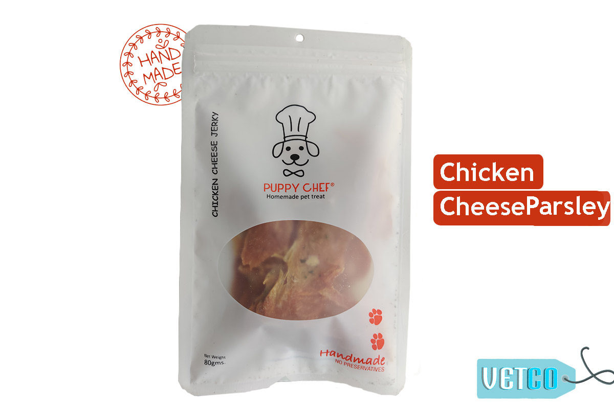 Puppy Chef Handmade Chicken with Cheese & Parsley Dog Treats