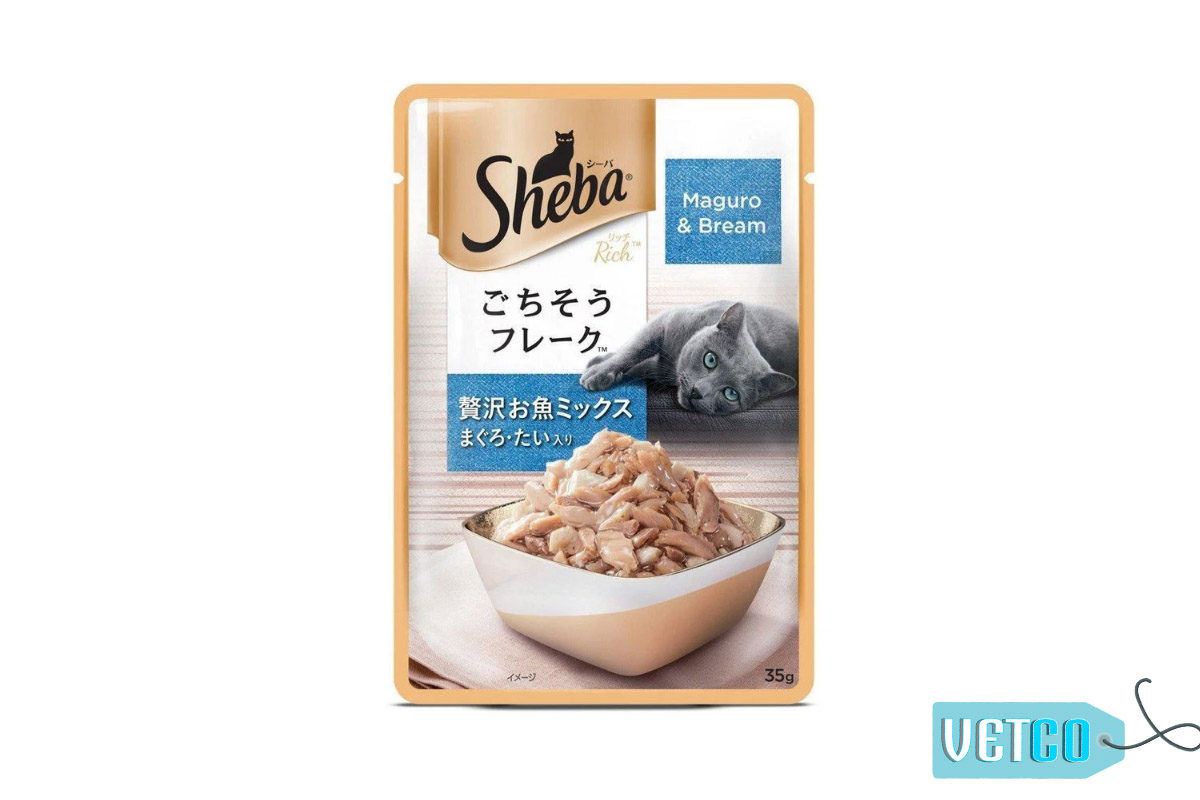 Sheba Wet Cat Food Maguro & Bream (12 Packs)