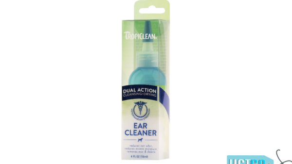 TropiClean Dual Action Ear Cleaner for Dogs, 118 ml