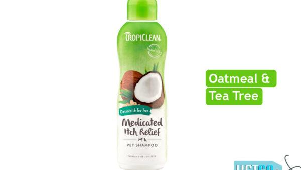 TropiClean Medicated Oatmeal & Tea Tree Dog Shampoo, 355 ml