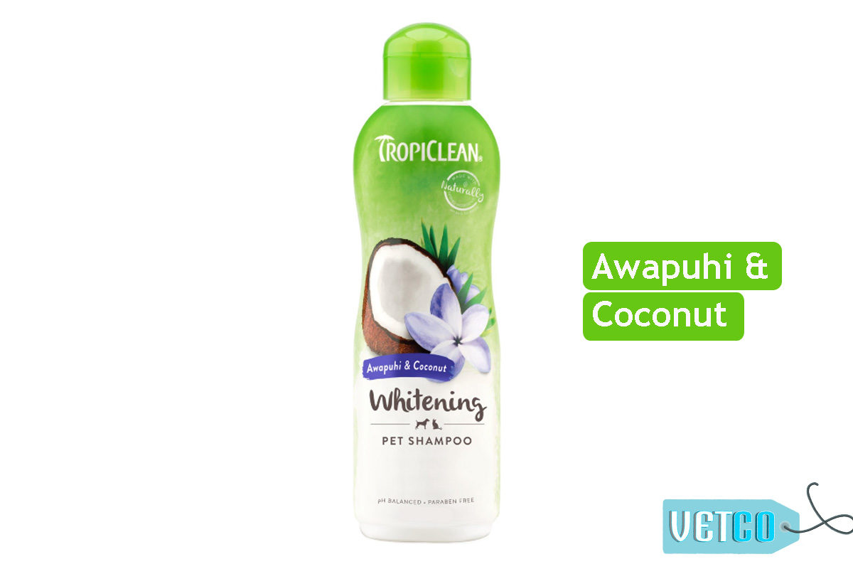 TropiClean Whitening Awapuhi & Coconut Dog Shampoo, 355 ml