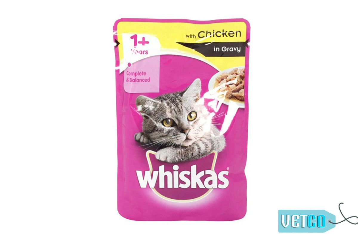 Whiskas Wet Meal Chicken in Gravy for Adult Cats, 1.02 kg