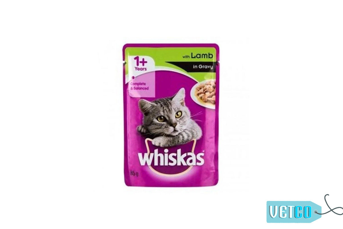 Whiskas Wet Meal Lamb in Gravy for Adult Cats, 1.02 kg