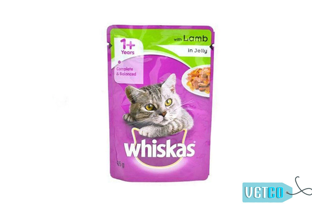 Whiskas Wet Meal Lamb in Jelly for Adult Cats, 1.02 kg