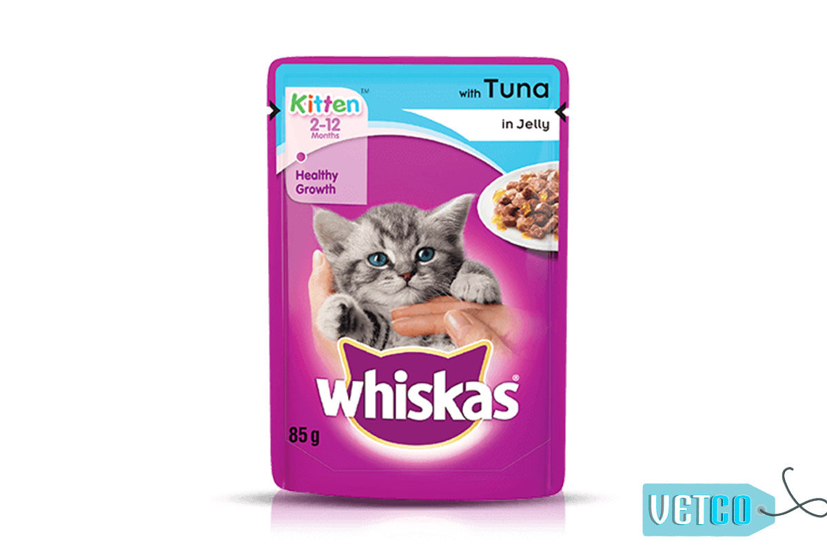 Whiskas Wet Meal Tuna in Jelly for Adult Cats, 1.02 kg