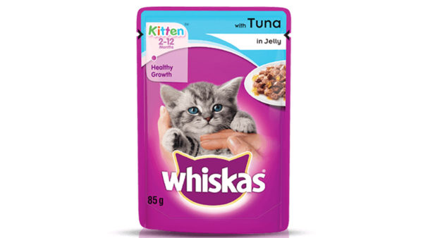 Whiskas Wet Meal Tuna in Jelly for Kittens, (6 x 85g)