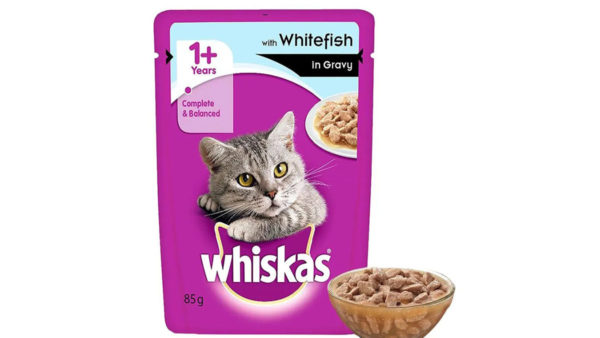 Whiskas Wet Meal Whitefish in Gravy for Adult Cats, 1.02 kg