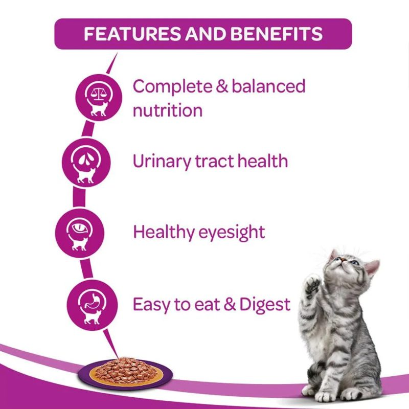 Whiskas Wet Meal Whitefish in Gravy for Adult Cats, 1
