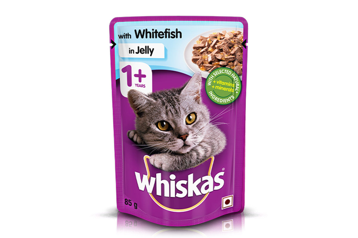 Whiskas Wet Meal Whitefish in Jelly for Adult Cats, 1
