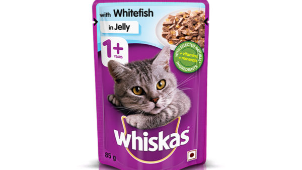 Whiskas Wet Meal Whitefish in Jelly for Adult Cats, 1.02 kg