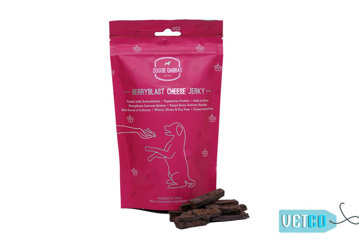 Doggie Dabbas Berryblast Cheese Jerky Dog Treat, 100gms