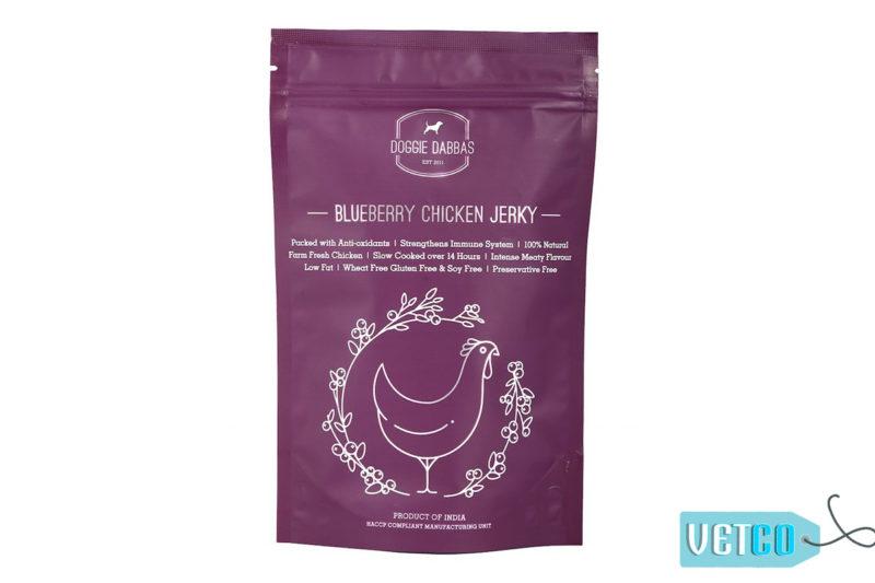 Doggie Dabbas Blueberry Chicken Jerky Dog Treat, 85gms