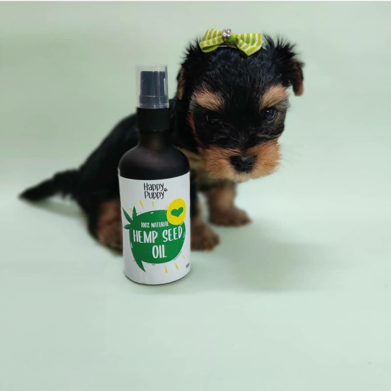 Happy Puppy Hemp Seed Oil Spray, 100 ml