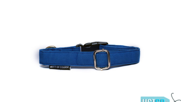 Mutt Ofcourse Water & Dirt Repellant Blueberry Dog Collar