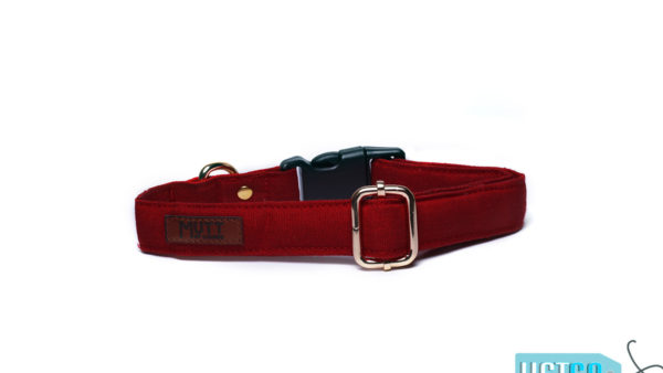 Mutt Ofcourse Water & Dirt Repellent Strawberry Dog Collar