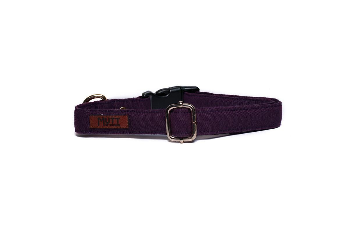 Mutt Ofcourse Water & Dirt Repellent Wildberry Dog Collar
