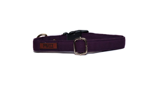 Mutt Ofcourse Water & Dirt Repellent Wildberry Dog Collar
