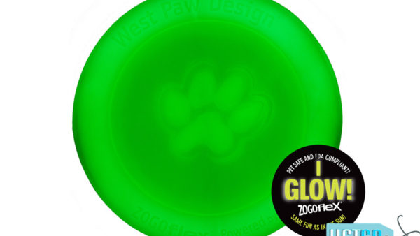 West Paw Zogoflex Zisc Dog Toy - Glow in the Dark