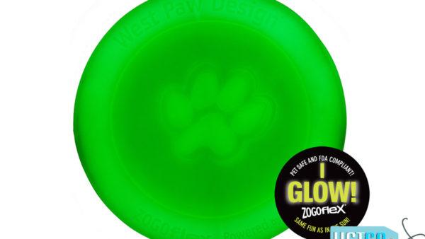 West Paw Zogoflex Zisc Dog Toy - Glow in the Dark