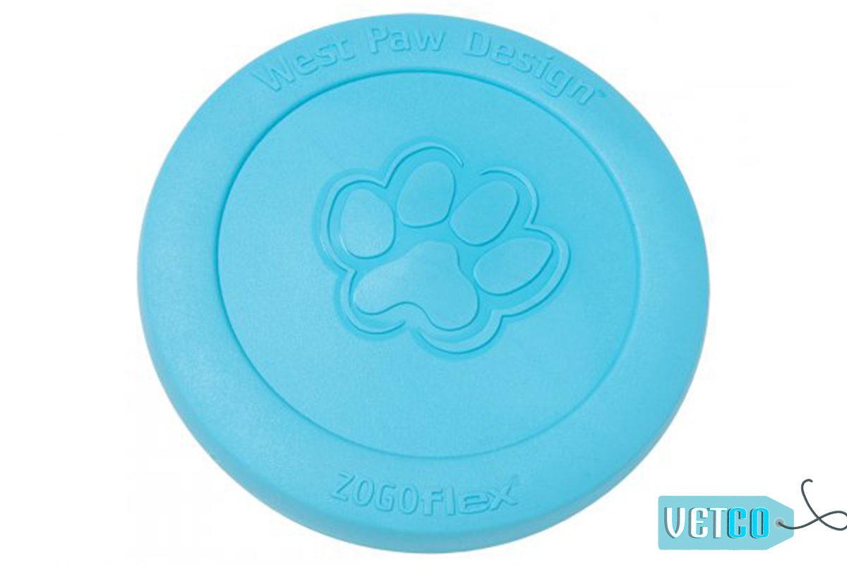 West Paw Zogoflex Zisc Dog Toy - Aqua