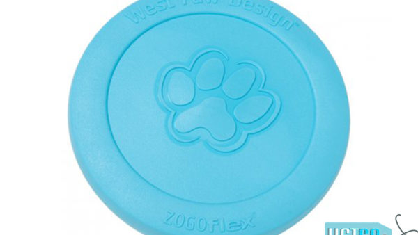 West Paw Zogoflex Zisc Dog Toy - Aqua