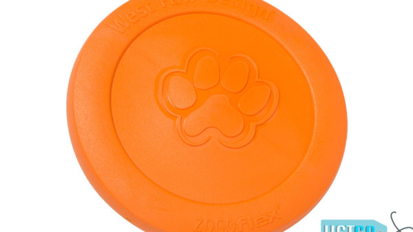 West Paw Zogoflex Zisc Dog Toy - Tangerine