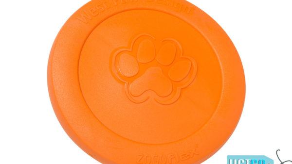 West Paw Zogoflex Zisc Dog Toy - Tangerine