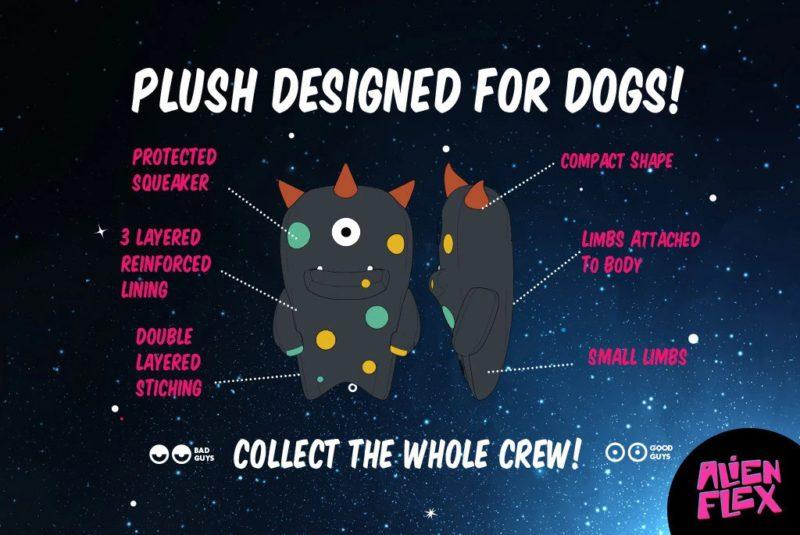 Zee Dog Alien Flex Ghim Dog Toy