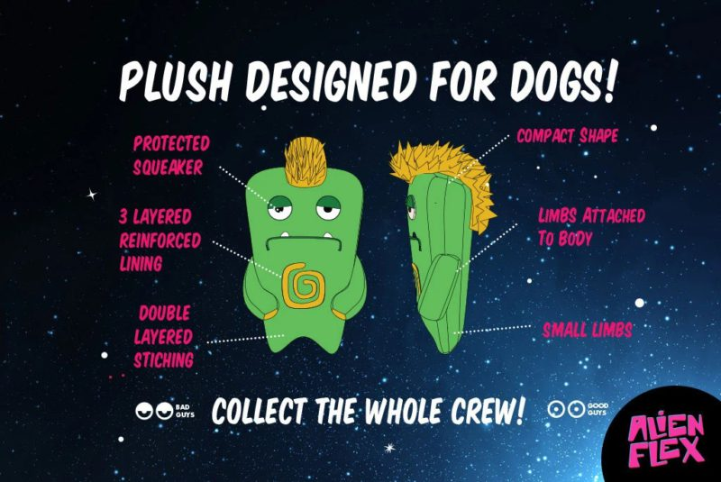 Zee Dog Alien Flex Gro Dog Toy