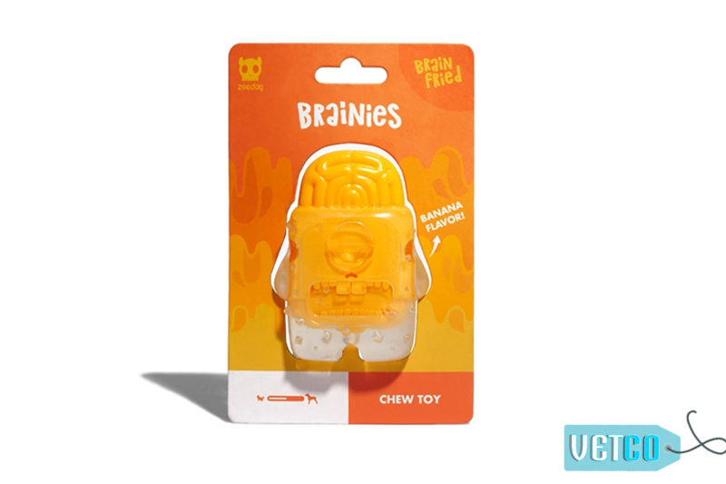 Zee Dog Brain Fried Dog Toy 1