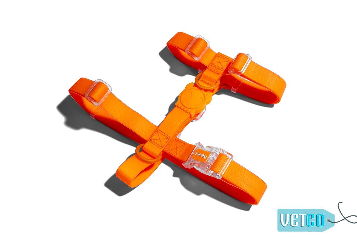 Zee Dog NeoPro Tangerine Weatherproof Dog H-Harness