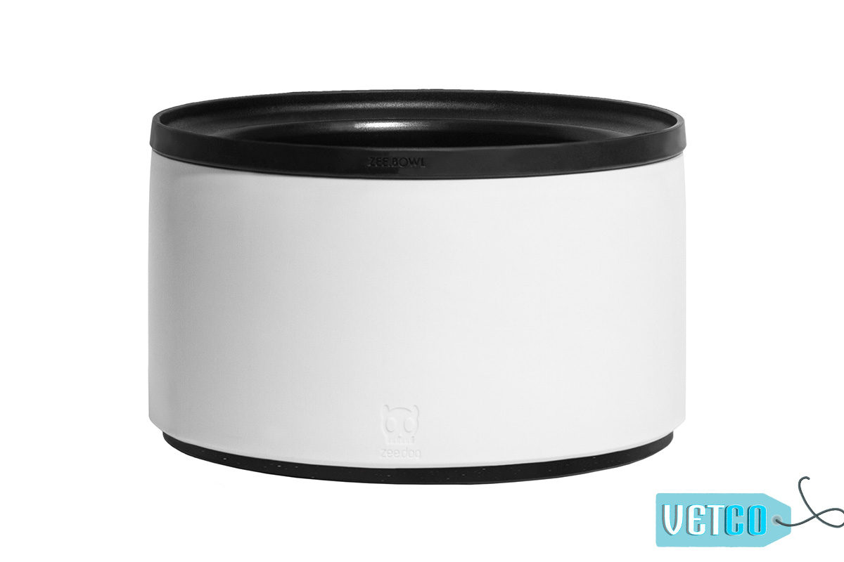 Zee Dog Zee Bowl Height Adjustable Bowl – White
