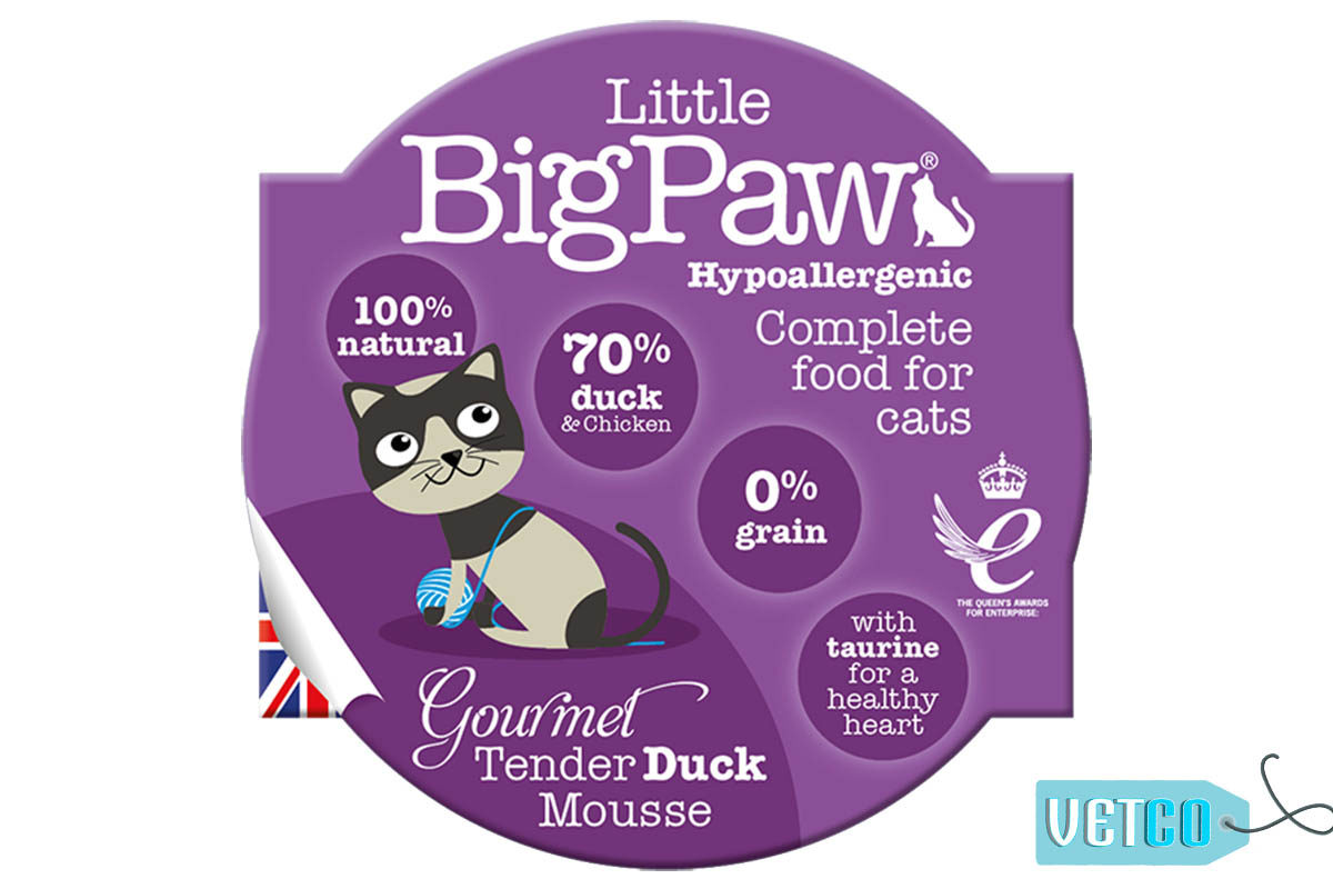 Little BigPaw Gourmet Tender Duck Mousse Wet Cat Food (Pack of 8)