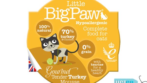Little BigPaw Gourmet Tender Turkey Mousse Wet Cat Food (Pack of 8)