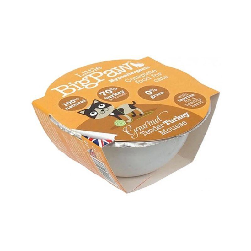 Little BigPaw Gourmet Tender Turkey Mousse Wet Cat Food (Pack of 8)