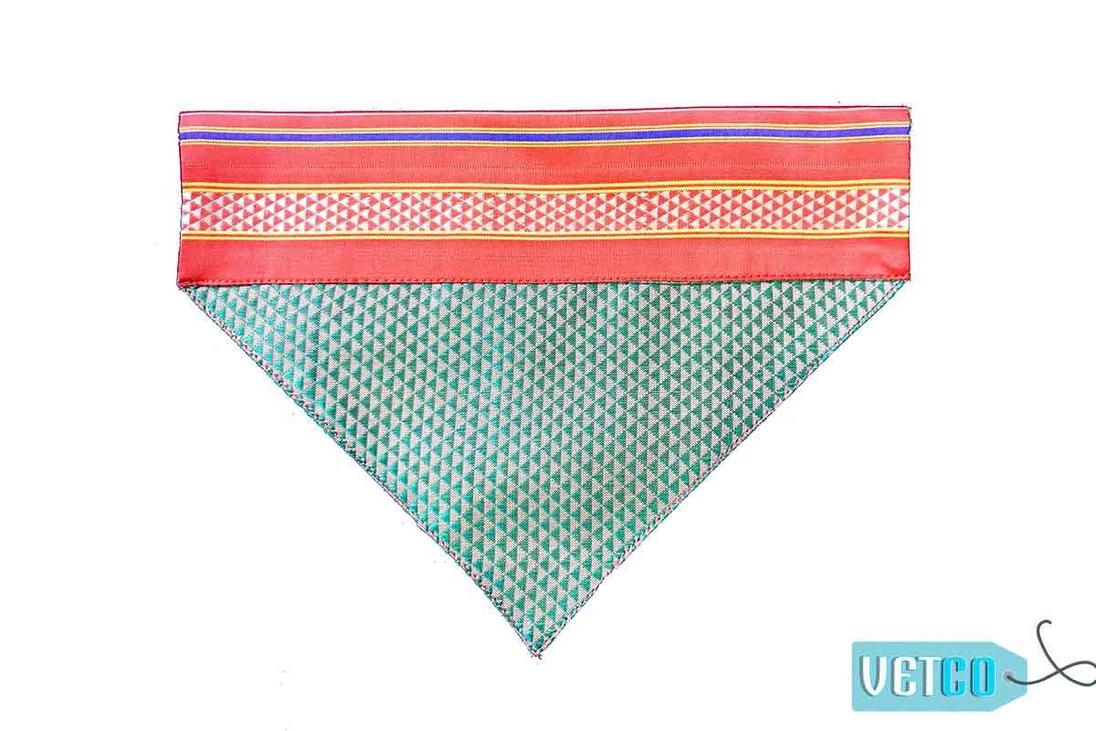 FTFK Traditional Maharashtrian Khun Dog Bandana - Pink & Blue