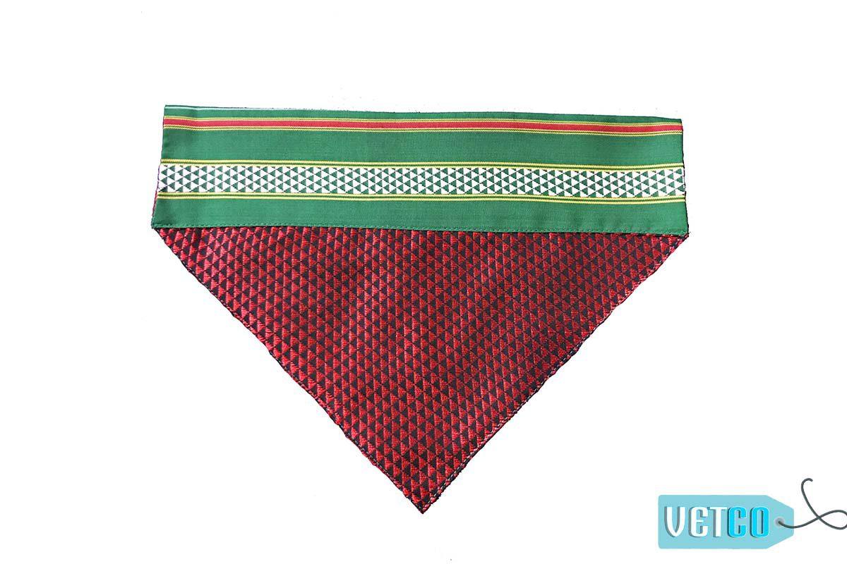 FTFK Traditional Maharashtrian Khun Dog Bandana - Red, Black & Green
