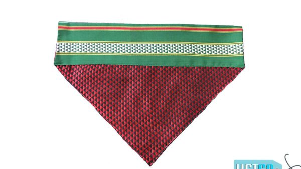 FTFK Traditional Maharashtrian Khun Dog Bandana - Red, Black & Green
