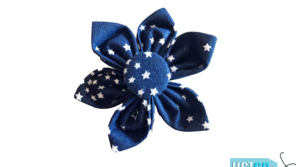 FTFK Starry Night Collar Flower Bow For Dogs