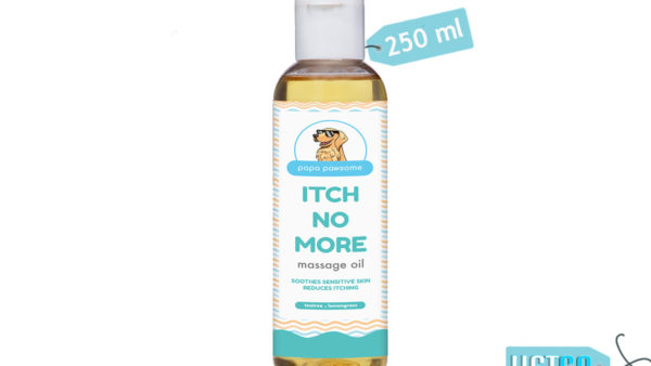 Papa Pawsome Itch No More Massage Oil for Dogs, 250 ml