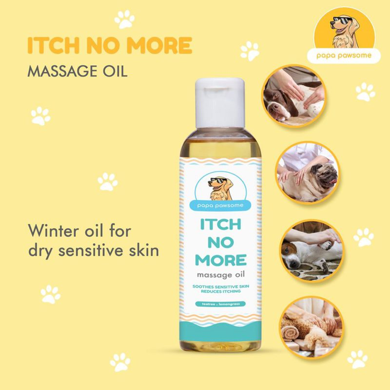 Papa Pawsome Itch No More Massage Oil for Dogs