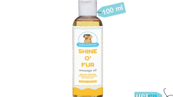 Papa Pawsome Shine O' Fur Massage Oil for Dogs, 100 ml