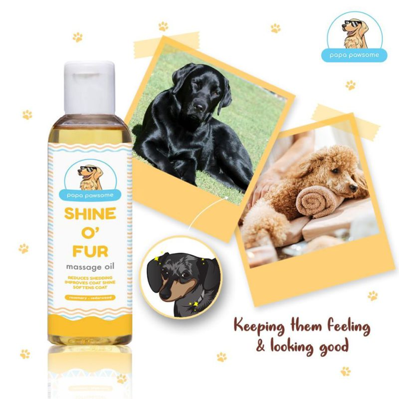 Papa Pawsome Shine O' Fur Massage Oil for Dogs