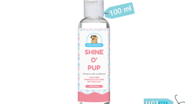 Papa Pawsome Shine O' Pup Tear Free Puppy Shampoo with Conditioner, 100 ml