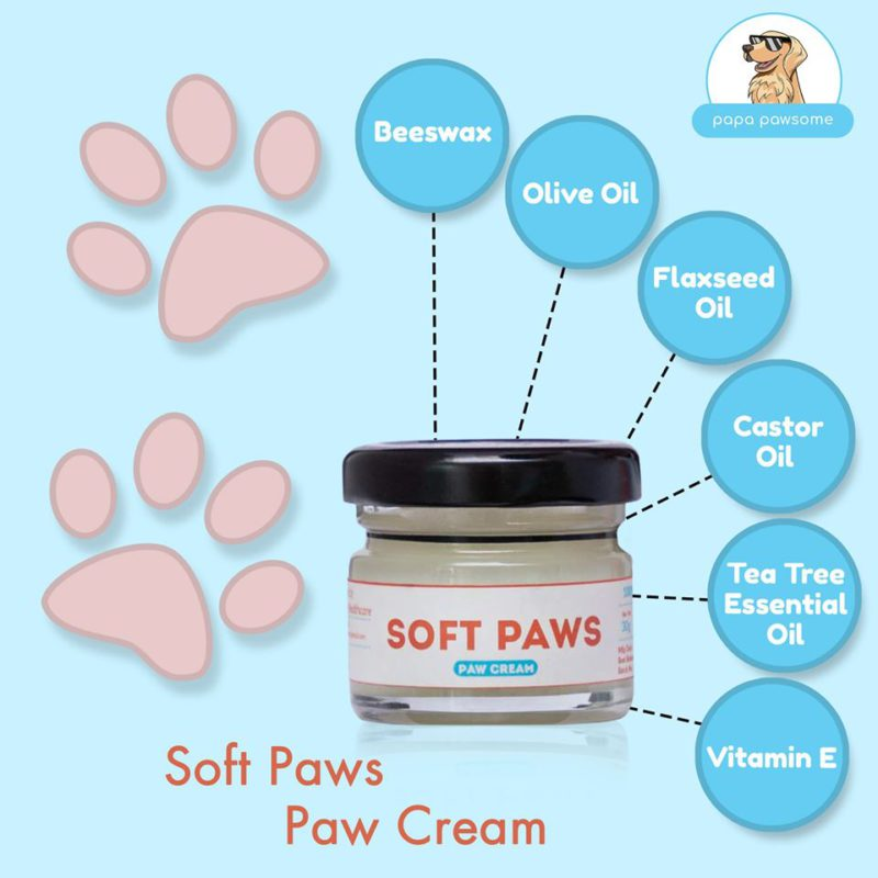 Papa Pawsome Soft Paws 100% Natural Paw Cream for Dogs, 30 gms 4