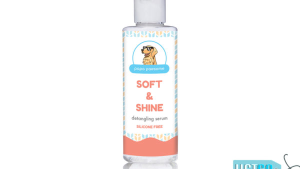Papa Pawsome Soft & Shine Detangling Fur Serum for Dogs, 50 ml
