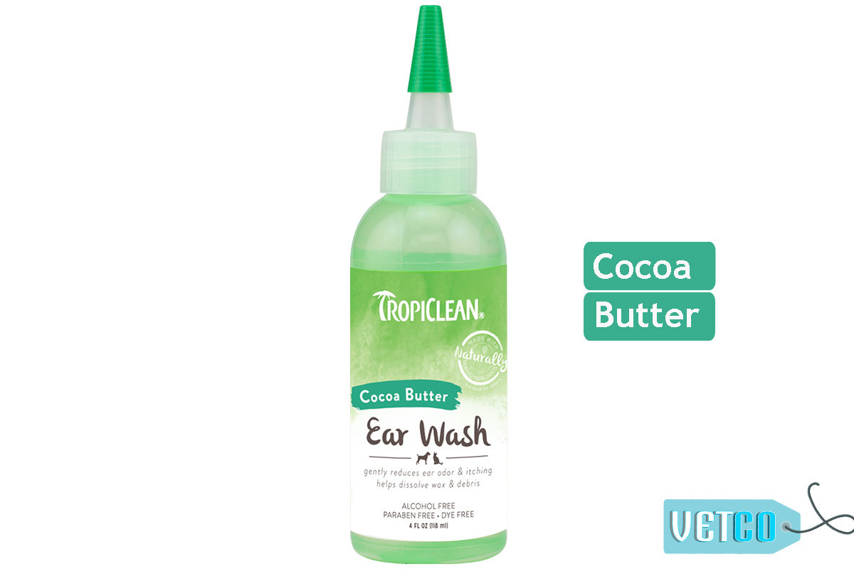 TropiClean Alcohol Free Ear Wash for Dogs, 118 ml