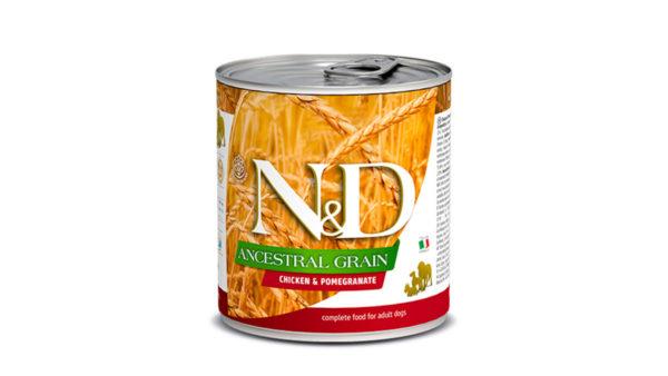 Farmina N&D Ancestral Grain Adult Wet Dog Food Chicken & Pomegranate (Medium & Maxi Breeds), 285 gms