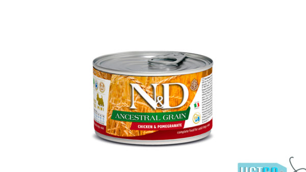 Farmina N&D Ancestral Grain Adult Wet Dog Food Chicken & Pomegranate (Small & Mini Breeds), 140 gms